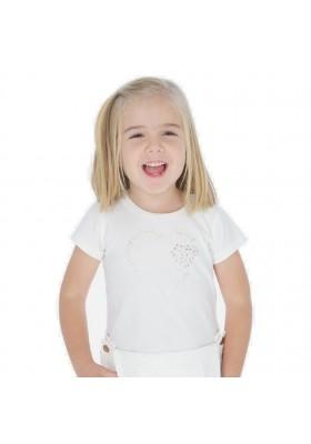 Camiseta manga corta basica de MAYORAL para niña modelo 174