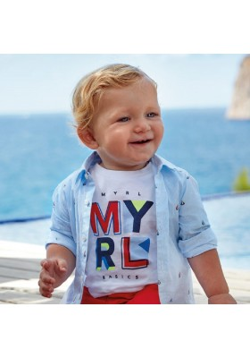 Camiseta manga corta basica de MAYORAL para bebe niño modelo 106