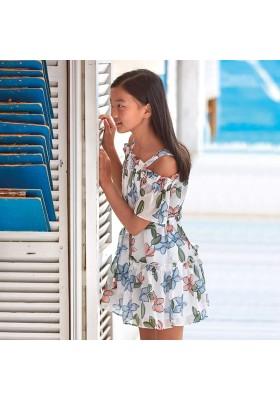 Vestido gasa bambula de MAYORAL para niña modelo 6974