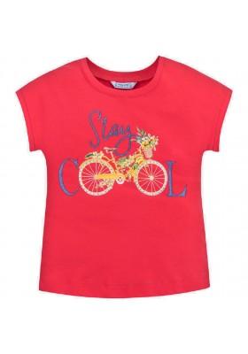 Camiseta manga corta bicicleta de MAYORAL para niña modelo 6015