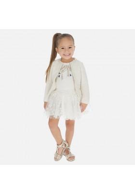 Falda tul flor glitter de MAYORAL para niña modelo 3901