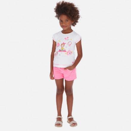 Pantalon corto tinte en prend de MAYORAL para niña modelo 3284