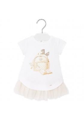 Vestido punto y tul de MAYORAL para bebe niña modelo 1925