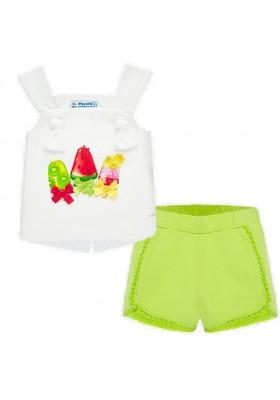 Conjunto short nudos de MAYORAL para bebe niña modelo 1206