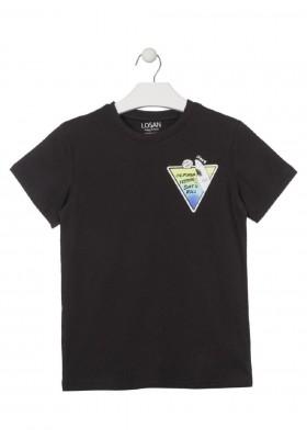 camiseta de manga corta con prints de LOSAN para niño modelo 013-1022AL