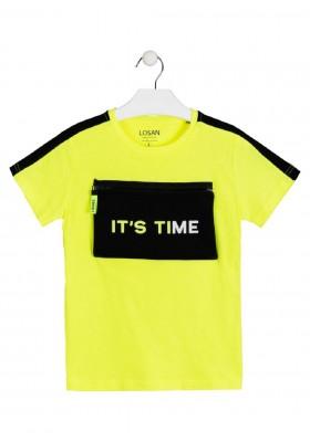 camiseta de manga corta con cremallera de LOSAN para niño modelo 013-1007AL