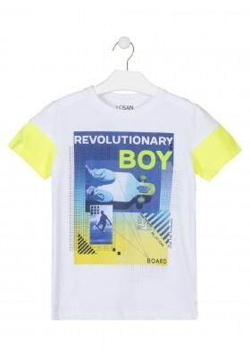 camiseta manga corta con print delantero de LOSAN para niño modelo 013-1006AL