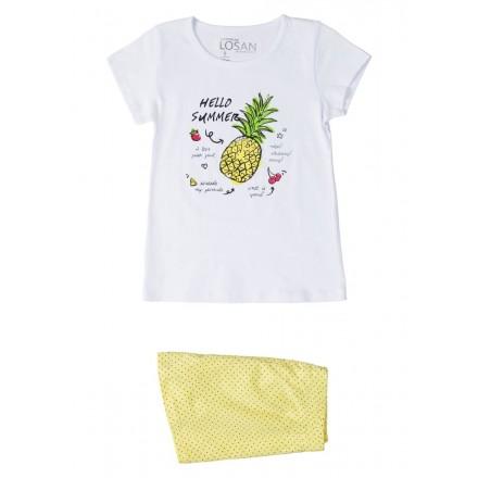 pijama de manga corta de LOSAN para niña modelo 014-P001AL