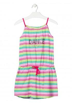 vestido estampado de LOSAN para niña modelo 014-7014AL