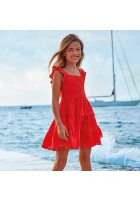 Vestido algodon lino de MAYORAL para niña modelo 6973
