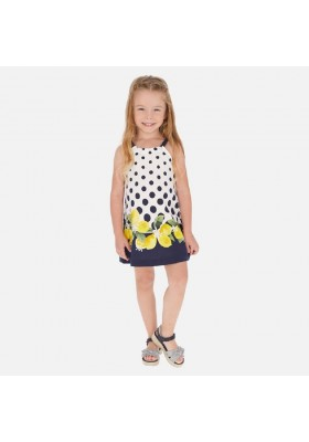 Vestido cenefa de MAYORAL para niña modelo 3961