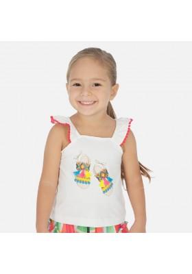 Camiseta tirantes sandalias de MAYORAL para niña modelo 3026