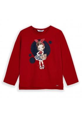 Camiseta manga larga circulo niña de MAYORAL para niña modelo 3021