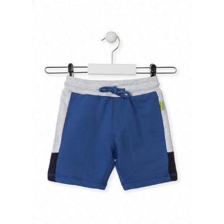 bermuda con bordado trasero de LOSAN para niño modelo 015-6010AL