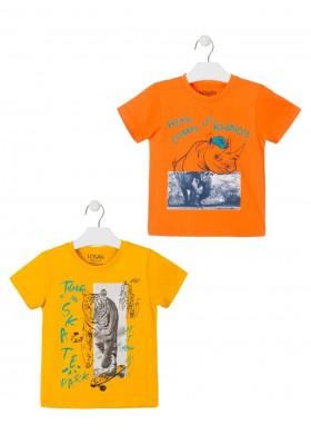 camiseta de manga corta con print de LOSAN para niño modelo 015-1204AL