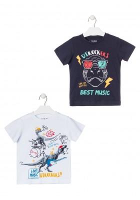 camiseta de manga corta con print de LOSAN para niño modelo 015-1203AL