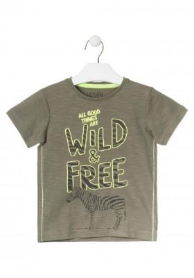 camiseta de manga corta con print de LOSAN para niño modelo 015-1029AL