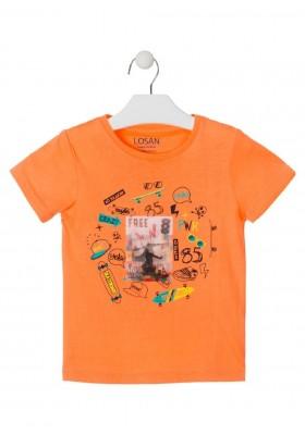 camiseta de manga corta con print de LOSAN para niño modelo 015-1028AL