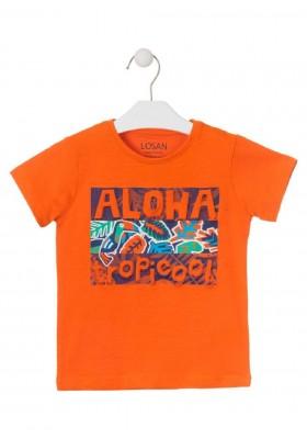 camiseta de manga corta con print de LOSAN para niño modelo 015-1025AL