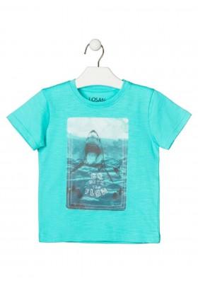 camiseta de manga corta con print de LOSAN para niño modelo 015-1018AL