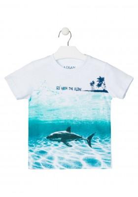 camiseta de manga corta con print de LOSAN para niño modelo 015-1017AL