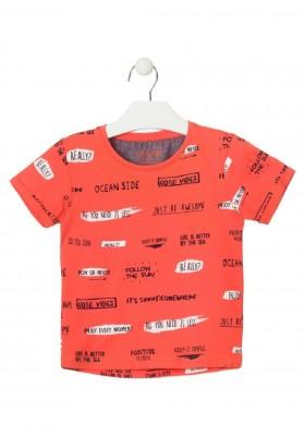camiseta de manga corta estampada de LOSAN para niño modelo 015-1003AL