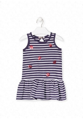 vestido sin mangas con lentejuelas de LOSAN para niña modelo 016-7005AL