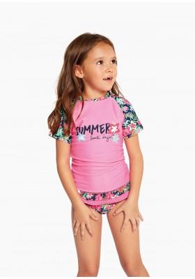 camiseta manga corta con proteccion uv de LOSAN para niña modelo 016-1033AL