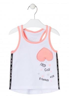 camiseta sin mangas con estampado de LOSAN para niña modelo 016-1032AL