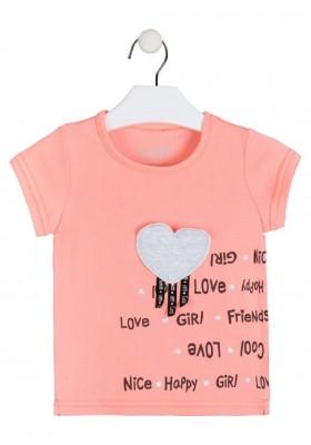 camiseta manga corta con estampado de LOSAN para niña modelo 016-1031AL