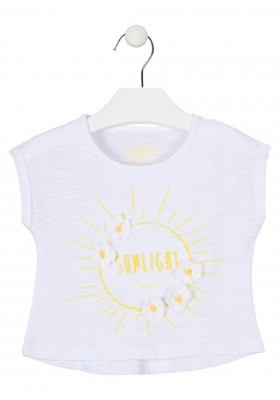 camiseta manga corta con estampado de LOSAN para niña modelo 016-1006AL