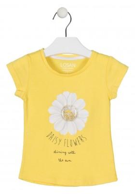 camiseta manga corta con estampado de LOSAN para niña modelo 016-1005AL