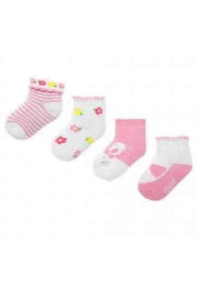 Set 4 calcetines de Mayoral para bebe niña modelo 9245