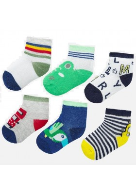 Set 6 calcetines de Mayoral para bebe niño modelo 9244