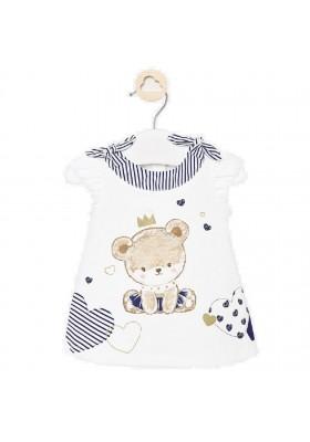 Vestido punto grafica de Mayoral para bebe niña modelo 1886