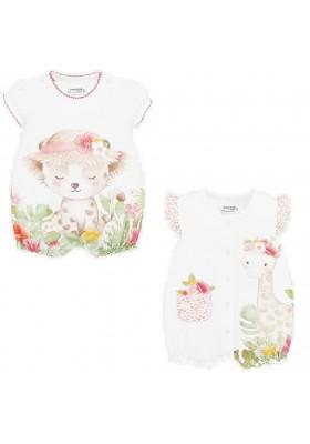 Set 2 pijamas cortos graficas de Mayoral para bebe niña modelo 1765