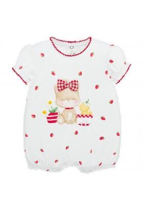 Pijama corto grafica de Mayoral para bebe niña modelo 1758