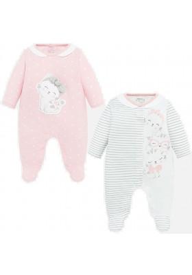 Set 2 pijamas largos de Mayoral para bebe niña modelo 1756
