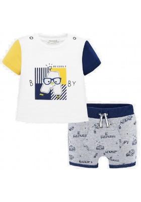 Conjunto pantalon corto punto de Mayoral para bebe niño modelo 1276