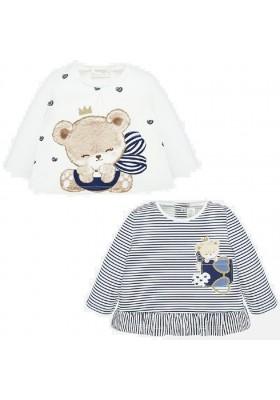 Set 2 camisetas m/l de Mayoral para bebe niña modelo 1035