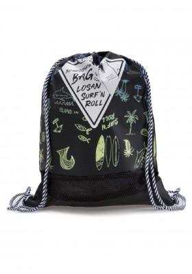 bolsa de poliester con print de LOSAN para niño modelo 013-A001AL