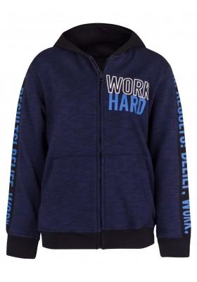 chaqueta felpa no perchada con capucha de LOSAN para niño modelo 013-6020AL