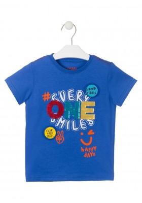 camiseta de manga corta en punto liso de LOSAN para niño modelo 015-1032AL