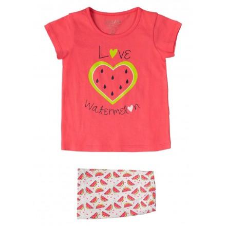 pijama camiseta manga corta y short de LOSAN para niña modelo 016-P001AL