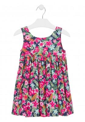 vestido sin mangas todo estampado de LOSAN para niña modelo 016-7036AL