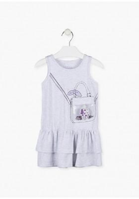 vestido sin mangas con estampado de LOSAN para niña modelo 016-7010AL