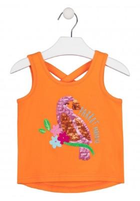 camiseta de tirantes con bordado de LOSAN para niña modelo 016-1012AL