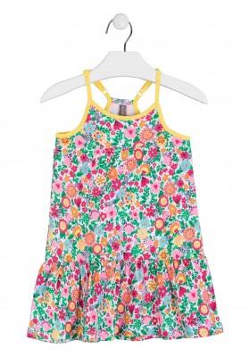 vestido de tirantes todo estampado de LOSAN para niña modelo 016-7043AL