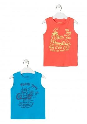 camiseta sin mangas con print de LOSAN para niño modelo 015-1200AL