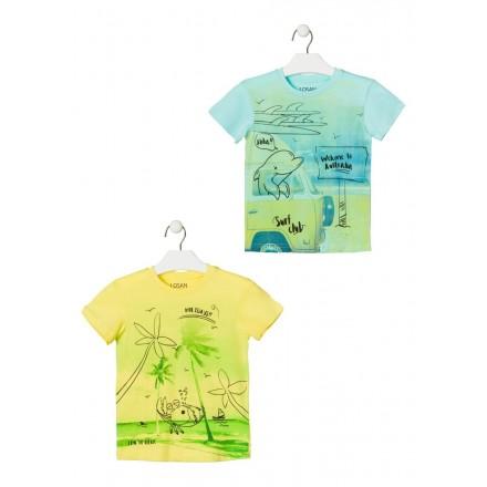 camiseta de manga corta con print de LOSAN para niño modelo 015-1208AL